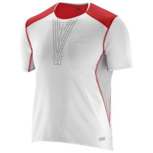 Salomon S-Lab Camiseta ultraligera fabricada con tejido Cocona® para una mayor transpirabilidad y reducción del olor, y orificios cortados con láser para ventilar.