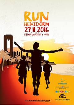 Cartel Media Maraton de Benidorm