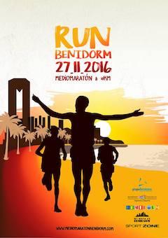 Cartel Media Maraton de Benidorm